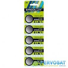 Батарейка ERGOLUX CR-2016 Lithium * 5 (CR2016-BP5)