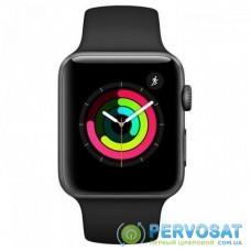 Смарт-часы Apple Watch Series 3 GPS, 42mm SpaceGrey Aluminium Case Black Band (MTF32FS/A)