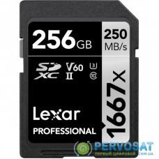 Карта памяти Lexar 256GB SDXC class 10 UHS-II U3 V60 1667x Professional (LSD256CB1667)