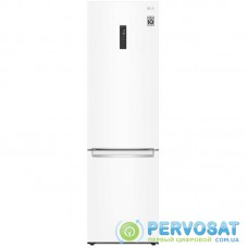 Холодильник с нижн. мороз. камерою LG GA-B509SQSM, 203х68х60см, 2 дв., Холод.відд. - 277л, Мороз. відд. - 107л, A++, NF, Інв., Зовнішній дисплей, Білий