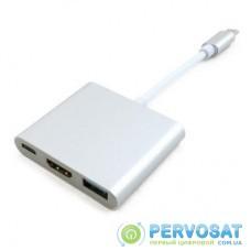 Порт-репликатор EXTRADIGITAL USB Type-C to HDMI/USB 3.0/Type-C (0.15m) (KBH1691)