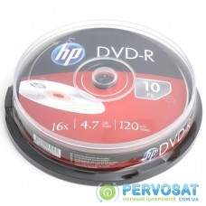 Диск DVD HP DVD-R 4.7GB 16X 10шт (69315/DME00026-3)