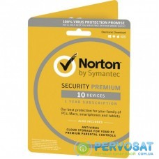 Антивирус Norton by Symantec NORTON SECURITY PREMIUM 2 Year 10 devices ESD key (21390870)