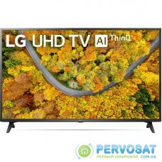 "Телевiзор 43"" LED 4K LG 43UP75006LF Smart, WebOS, Чорний"