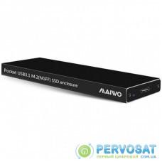 Карман внешний Maiwo M.2 SSD (NGFF) SATA USB3.1 GEN2 Type-C al. (K16NC black)