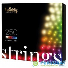 Гирлянда Twinkly Smart LED Strings RGBW 250, BT + WiFi, Gen II, IP44, кабель (TWS250SPP-TEU)