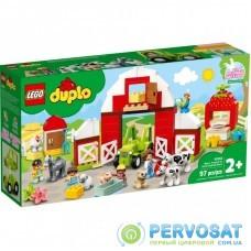 Конструктор LEGO Duplo Фермерский трактор, домик и животные (10952)