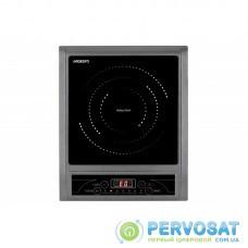Індукційна електроплитка Ardesto ICS-B100 - 1 конфорка 2000 Вт / таймер / сіро-чорна