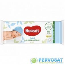 Влажные салфетки Huggies Pure Bio 56 шт (5029053575650)