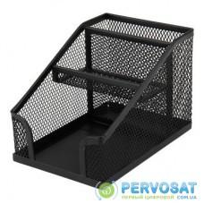 Подставка для мелочей Axent 100x143x100мм, wire mesh, black (2118-01-A)