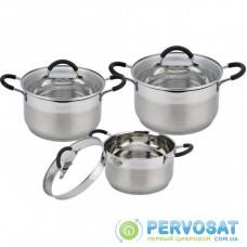 Набор посуды Con Brio 6 предметов 2,6л, 3,6л, 4,7л (СВ-1154)