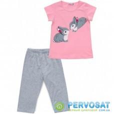 Пижама Matilda с зайчиками (12310-4-152G-pink)