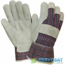 Защитные перчатки WERK комбинированные кожа + ткань (39385)