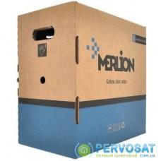 Кабель сетевой Merlion UTP 305м, cat 5e, CU, 4*2*0,50мм, ПВХ, indoor (КПВ-ВП (100) 4*2*0,50 / 17383)