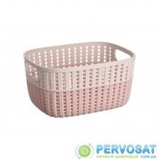 Корзинка плетена Ardesto Sweet Home, 3л, 235*176*120 мм, рожевий, пластик