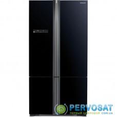 Холодильник с нижн. мороз. HITACHI R-WB800PUC5GBK, 184х81х91см, 4 дв., Х- 466л, М- 174л, A++, NF, Інвертор, Чорне скло