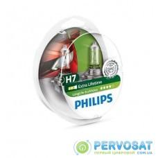 Лампа галогенна Philips H7 LongLife EcoVision, 2шт/блістер