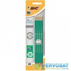 Карандаш графитный Bic Evolution Eco HB с ластиком в блистере, 4шт (bc8902753)