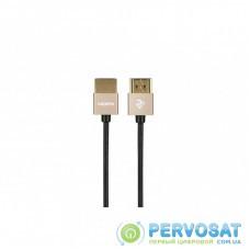 Кабель мультимедийный HDMI to HDMI 1.0m Gen2 Ultra Slim cable 2E (2E-W9668G-1M)