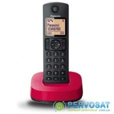 Радіотелефон DECT Panasonic KX-TGC310UCR Black Red