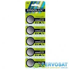 Батарейка ERGOLUX CR-2025 Lithium * 5 (CR2025-BP5)