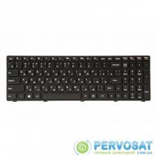 Клавиатура ноутбука PowerPlant Lenovo IdeaPad G500, G505 черный, черный фрейм (KB311552)