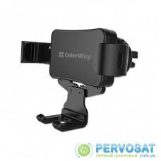 Универсальный автодержатель ColorWay Metallic Gravity Holder-2 Black (CW-CHG02-BK)