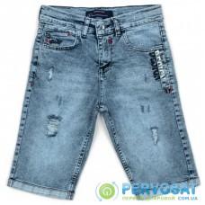 Шорты A-Yugi джинсовые с потертостями (5261-158B-blue)