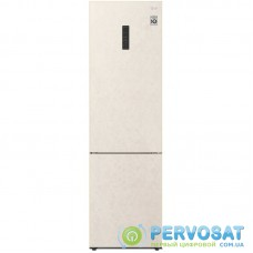 Холодильник с нижн. мороз. камерою LG GA-B509CETM, 203х68х60см, 2 дв., Холод.відд. - 277л, Мороз. відд. - 107л, A++, NF, Інв., Зона свіжості, Зовнішній дисплей, Бежевий