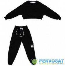 Спортивный костюм A-Yugi трикотажный (7036-K-146G-black)