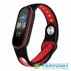 Ремешок для фитнес браслета BeCover Sport Style для Xiaomi Mi Smart Band 5 Black-Red (705169)