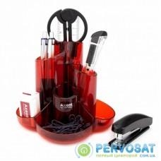 Настольный набор Axent Cascade 9 предметов Красный (2105-06-A)