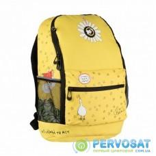 Рюкзак школьный Yes R-08 ГУСЬ желтый (558800)