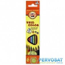 Карандаши цветные KOH-I-NOOR 3131 Triocolor, 6шт, set of triangular coloured pencils (3131006004KS)