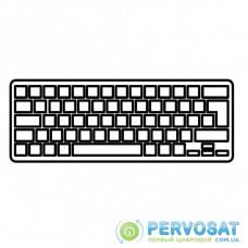 Клавиатура ноутбука Lenovo IdeaPad G580/V580/Z580 Series черная с белой рамкой RU (25206910/9Z.N8RSC.301/2521857/V-117020NS1-RU/25202806)