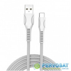 Дата кабель ColorWay USB 2.0 AM to Type-C 1.0m line-drawing white (CW-CBUC029-WH)