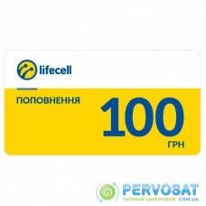 Карточка пополнения счета lifecell 100 (SCRATCH-C-100)