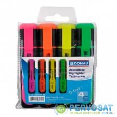 "Маркер Donau highlighter pen ""D-Text"", chisel tip, SET 4 colors (7358904PL-99)"