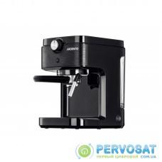 Кавоварка Ardesto ECM-E10B-1633 Вт/ріжкова/ резервуар 1л/чорний+метал