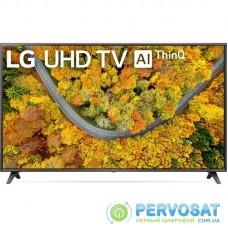 "Телевiзор 75"" LED 4K LG 75UP75006LC Smart, WebOS, Голубий"