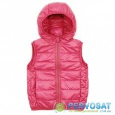Жилет KURT пуховый с капюшоном (V-HT-580T-92-pink)