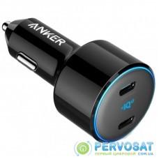 Зарядное устройство Anker PowerDrive+ III Duo - 30W PD + 18W USB-C (Black) (A2725H11)