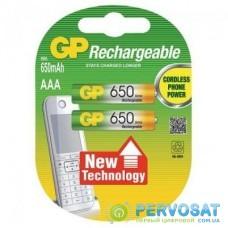 Аккумулятор AAA 650mAh * 2 GP (GP65AAAHC-U2)