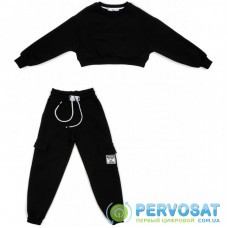 Спортивный костюм A-Yugi трикотажный (7036-K-140G-black)