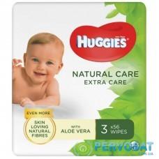 Влажные салфетки Huggies Natural Care Extra Care 3 х 56 шт (5029054222140)