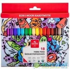 Фломастеры Koh-i-Noor Teenage, 18 цветов, картонная упаковка (771002/18)