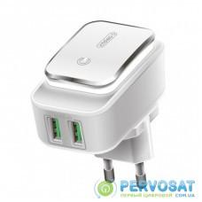 Зарядное устройство Intaleo TCL242 (2USB2.4A) (white) (1283126481130)