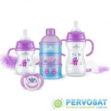 Набор для кормления новорожденных BAYBY 6 мес+ фиолетовый (BGS6202)
