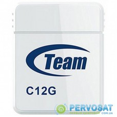 USB флеш накопитель Team 4GB C12G White USB 2.0 (TC12G4GW01)
