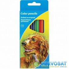 Карандаши цветные Kite Животные 12 шт. (K15-051)